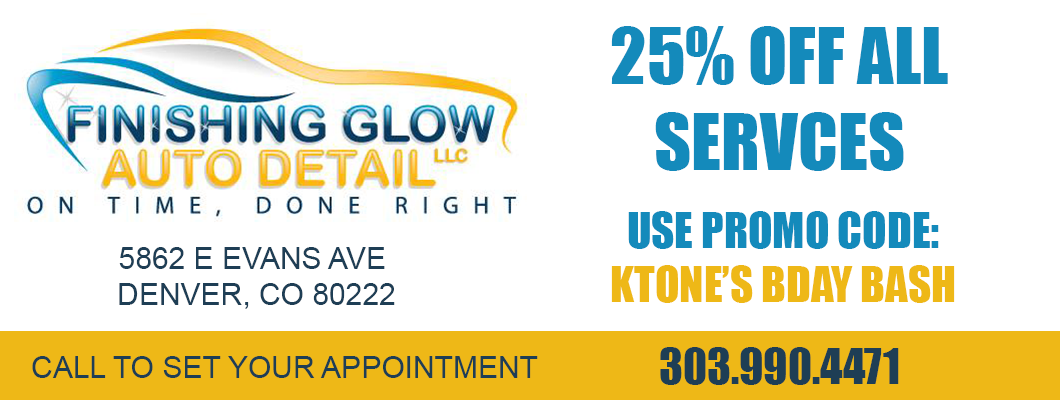 Finishing Glow Auto Detail - DJ Ktone 10th Anniversary Bash promo - 2107, Denver Colorado