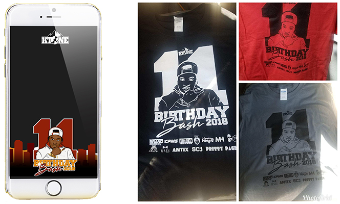 Bday Bash filter and shirts for sale